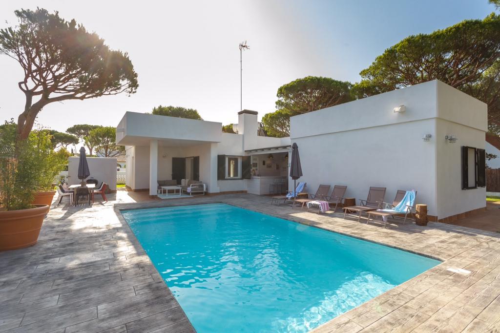 Maison angle piscine